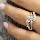 18K Rose Gold Plated Womens 925 Silver Jewelry Wedding Engagement Ring Size 6-10