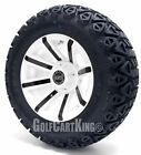 "Golf Cart Wheels and Tires Combo - 14"" Avenger (Choose a Color) - Set of 4"