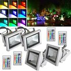 1/2/4 10W RGB LED Flood Light Spotlight 16 Colour Changing for Home Garden Hotel