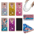 Dynamic Liquid Glitter Quicksand Gel Clear Back Case Cover For Huawei Samsung