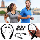 Black NC05 Neckband Stereo Bluetooth Headset Headphones For Call Phone Vivo /HTC