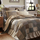 Sawyer Mill Charcoal (QUEEN) FARMHOUSE PATCHWORK QUILT- You Choose Accessories!  image