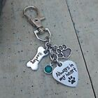 Dog Personalized Name Pet Remembrance Death loss Memorial Charm Keychain