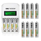 800/1100/2300/2800mAh AA AAA NI-MH Rechargeable Batteries + LCD Battery Charger