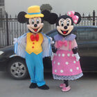 2018 Mickey Mouse and Minnie Mouse Mascot Fancy Dress Costume Makeup Adult.