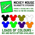 10x Disney Mickey Mouse Silhouette Head Stickers Wall, Kids Party, Little Tikes