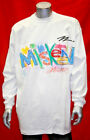 Men's White Miskeen Hand Painted3 Long Sleeve Tee Shirt
