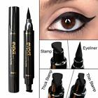 Easy Cat Eye Eyeliner Eyeshadow Stencil Card+1xBlack Winged Liquid Eyeliner Pen