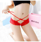 LE Womens Sexy transparent Open Panties Lace Briefs G-String  Lingerie Panty