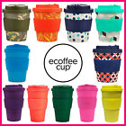 Reusable Bamboo Fibre Ecoffee Cups Eco Friendly Travel Coffee Mugs 8oz 12oz 14oz