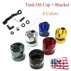 Motorcycle Front Brake Clutch Cylinder Fluid Reservoir Oil Tank Cup With Bracket $13.95 USD on eBay