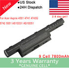 AS10D41 AS10D31 Battery Acer Aspire 4551 4741 5733Z 5742 5750 7551 7741z 9 Cell