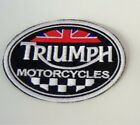 PATCH TRIUMPH MOTORCYCLES EMBROIDERY EMBROIDERED THERMOADHESIVE cm 9 width $6.79 AUD on eBay