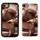 Chocolate Pattern Design 2 Piece Back Case Cover For Apple iPhone 7 & 8 - S121