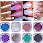 Chrome Powder Mirror Aurora Nail Art Glitter Pigment Rose Gold Pearl Silver Dust