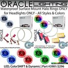 """ORACLE Universal Surface Mount Halo Rings for 7"""" Round Headlights *All Colors $279.87 USD on eBay"""