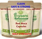 Red Maca Root Extract Capsules 2040mg Gelatinized NATURAL Extract not Powder