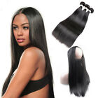 Straight 3Bundles With 360 Frontal Closure Brazilian Human Remy Hair Weft Virgin