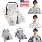 Baby Stroller Pram Car Seat Cover Blanket Breathable Muslin Sun Shade Canopy US