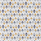 Pinpoints - Yellow White Grey - 100% Cotton Fabric Dressmaking Quilting