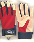 Women's Hi-Dexterity Red Spandex-Double Pigskin Leather Sport/Work/Drive Glove