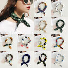 Women Fashion Square Silk Feel Satin Scarf Small Vintage Head-neck Hair Tie Band