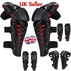 UK Motorcycle Motocross Hinged Knee Shin Pads Guard Protective Gear Body Armour