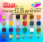 A4 sheets Siser Easyweed Electric & Metalic PREMIUM HTV - including Rose Gold