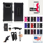 Case Defender and Holster Belt Clip For Samsung Galaxy S8...