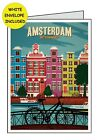 AMSTERDAM POSTER Personalised Card       Birthday All Occasions Anniversary Open