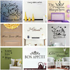 Removable Words Quote Wall Sticker Vinyl Decal Kitchen Bathroom Home Room Decor
