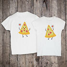 Cute Pizza Couple T-Shirt Gift For Him Her Short Sleeve Food Tee Set Of 2 Shirt