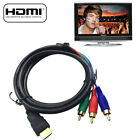 HDMI Male to 3 RCA Cord Converter Adapter For HDTV DVD 1080P 5FT Video Audio