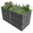 Gabion Planter Steel/2Tiered Landscaping Wall Rock Pot Cage Basket Flower Border