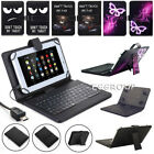 US PU Leather Stand Case Cover with Micro USB Keyboard For V
