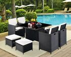 Outdoor 9 Piece High Back Rattan Garden Furniture Conservatory Cover Sofa Set