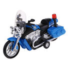 Diecast Alloy Police Patrol Motorcycle LED Lights Flashing for Children Toys