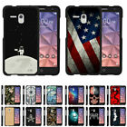 For Alcatel OneTouch Fierce XL / Flint Hard Fitted 2 Piece Snap On Case