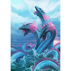 Welcome Sea Monster Dragon Garden Flag Double-sided House Decor Yard Banner