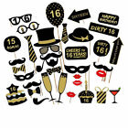 36pcs Birthday Party Photo Booth Props Party Favor Decor 16/18/21/30/40/50/60th <br/> FAST DELIVERY#UK SELLER STOCK#HIGH QUALITY