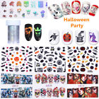 Nail Art Transfer 3D Stickers Water Decals Halloween Theme Manicure Decoration