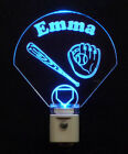 Kids Baseball Night Light, Baseball Diamand, Bat, Glove, LED