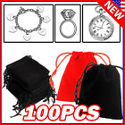 Kyпить Lot Black Velvet Drawstring Velour Pouch Jewelry Baggie Ring Gift Bag Pouch Sets на еВаy.соm