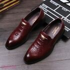 2019 Mens Formal Dress Faux Leather Casual Business Oxfords Causal Shoes Hot