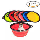 Cat Water Bowl Dogs Cats Silicone Pop-up Travel Pet Side Black