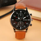Luxury Casual Men's Quartz Wrist Watches Leather Watch Strap Analog Dial Gift image