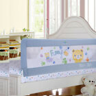 Gray Toddler Bed Rail Guard Rail Extra Long Safety Bed Barrier for King&Queen