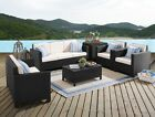 New 6 Or 7 Seat Rattan Garden Set Patio Conservatory Cover Furniture Table Sofa