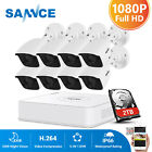 ANNKE 8CH 1080P Lite DVR 4x 8x White Bullet IR-CUT Security