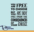 Free To Choose Quote Classroom Teacher Vinyl Wall Art Decal